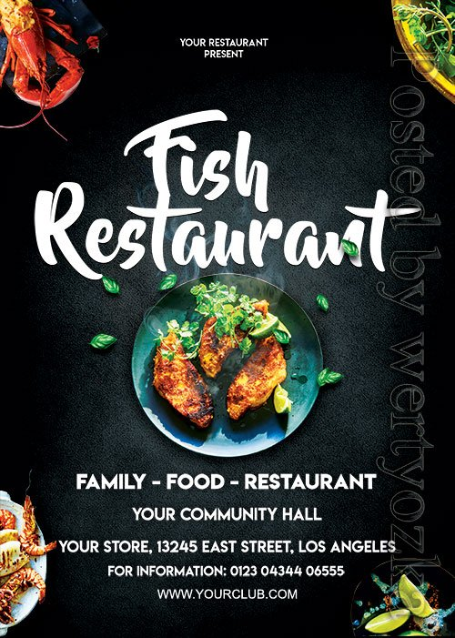 Fish Restaurant - Premium flyer psd template