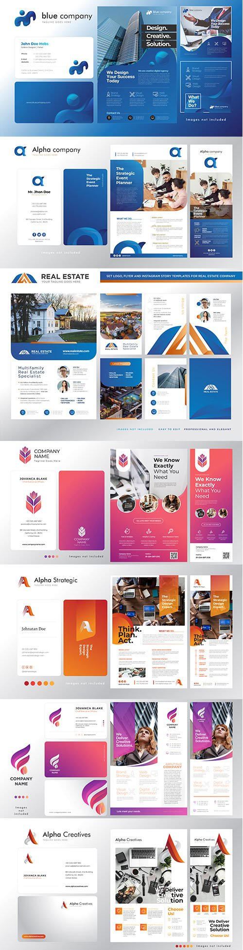 Corporate Logo, Business Card, Flyer and Banner Template