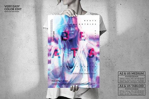 Beats Music Party - Big Poster Design