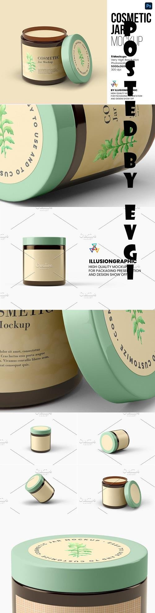 Cosmetic Jar Mockup - 5 views - 6295368