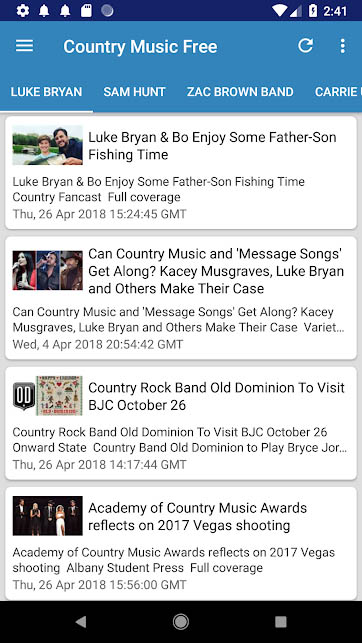 Country music apps - Country Music Now