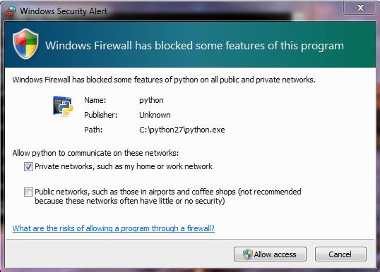 Games in window mode - firewall alert would go unnoticed.