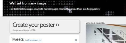 Print a poster using Rasterbator.
