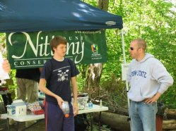 Why do you love Mt. Nittany? Left-right: Cory Trimm, Penn State Circle K, Jon Brooks, MNC Board Member.