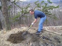 Safely removing a fire pit (Fires are not permitted on lands MNC manage)