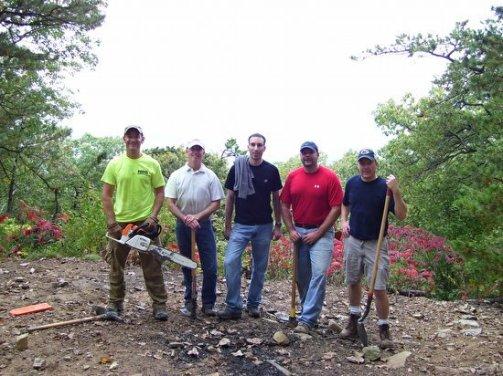 HRG volunteers Steven Lyncha, Tom Holleran, Dave Swisher, Chad Bell, Brian Walker (Left to right)