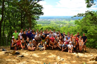 Entire group at the Mike Lynch Overlook