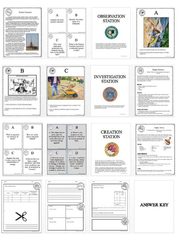1474422731 demoPreviewEnergyWorkSimpleMachines Page 4 - ENERGY, WORK & SIMPLE MACHINES - Demo, Lab and Science Stations