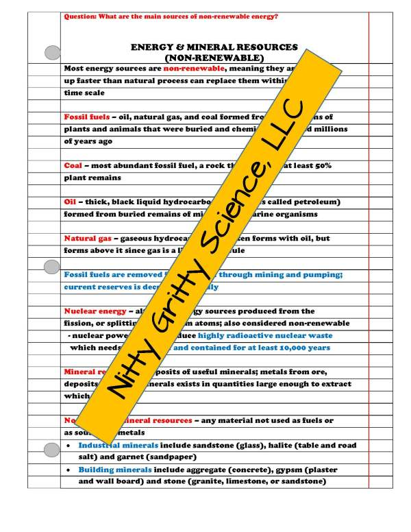 2273845 Page 3 - Natural Resources: Earth Science PowerPoint, Notes & Test ~ EDITABLE!