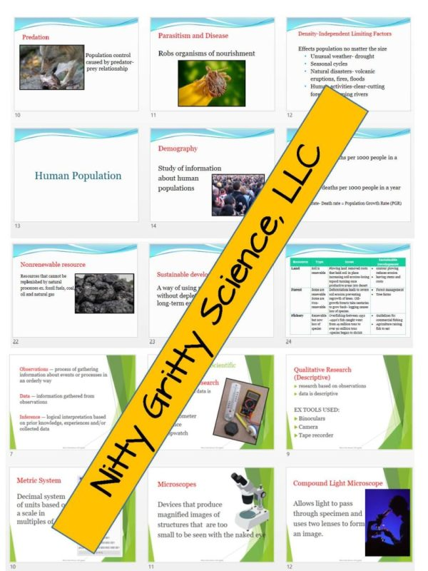 2302221 Page 6 - Life Science Curriculum - Notes, PowerPoint, and Chapter Tests ~ EDITABLE Bundle
