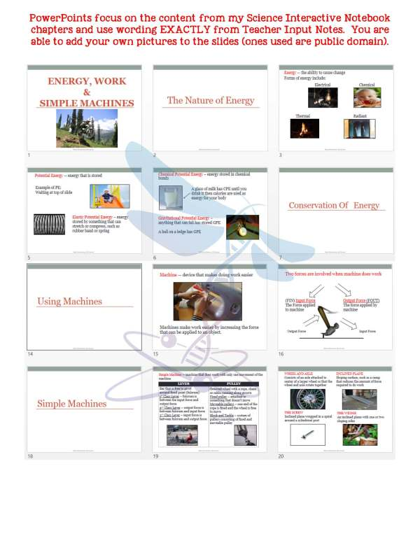 2443708 Page 5 - Energy, Work & Simple Machines: PS Notes, PowerPoint and Test ~ EDITABLE