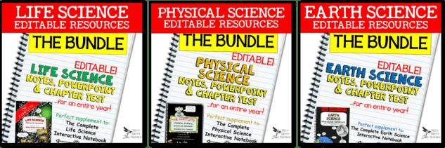 Nitty Gritty Science Editable Bundles