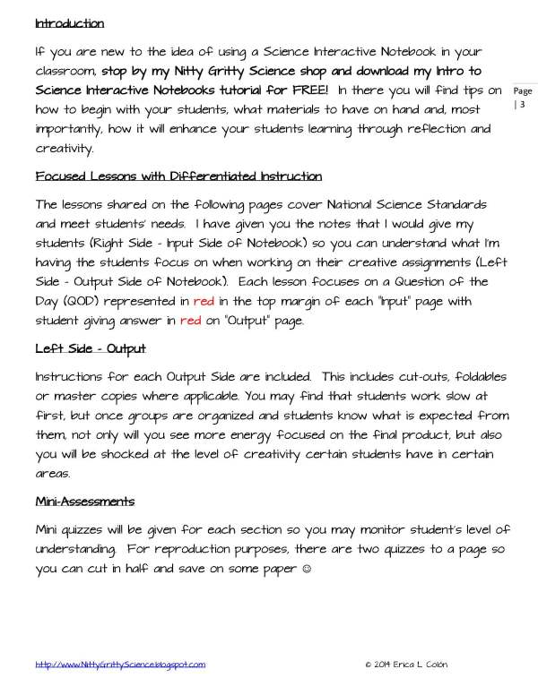 Demo INTRO TO LIFE SCIENCE Page 3 - Intro to Life Science