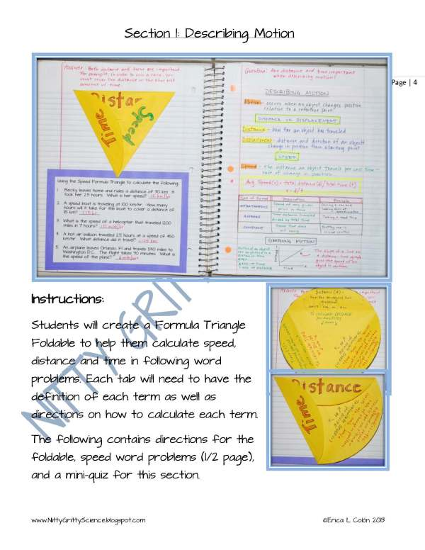 Demo Motion and Forces Page 4 - Motion and Forces