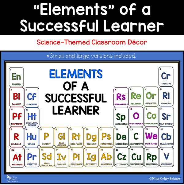 Elements of Successful Learner - Elements of a Successful Learner - Science-themed Classroom Bulletin Board