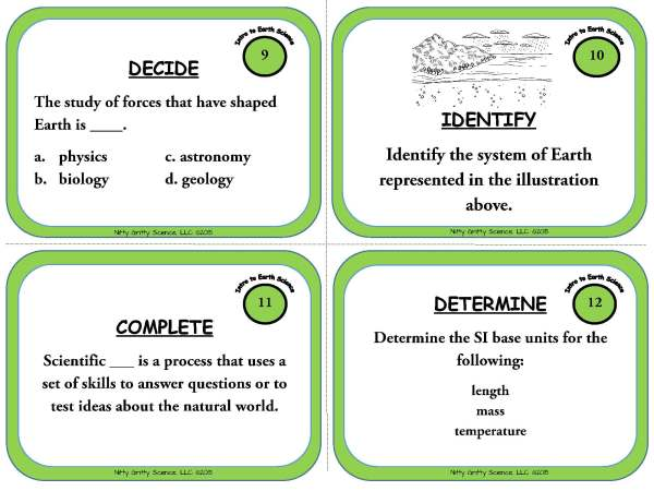 Intro to Earth Science Page 05 - Intro to Earth Science: Earth Science Task Cards