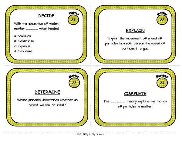 Matter Page 08 - Matter: Physical Science Task Cards