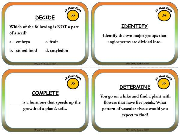 Plants Page 11 - Plants - Life Science Task Cards