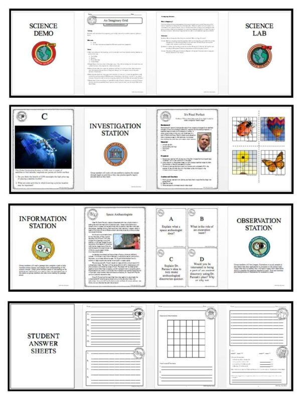 Preview Mapping Earths Surface Page 4 - MAPPING EARTH'S SURFACE - Demos, Lab and Science Stations