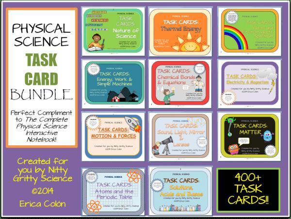 Task Card Bundle - Physical Science Curriculum – Ultimate Bundle v 2.0 ~ NO LABS