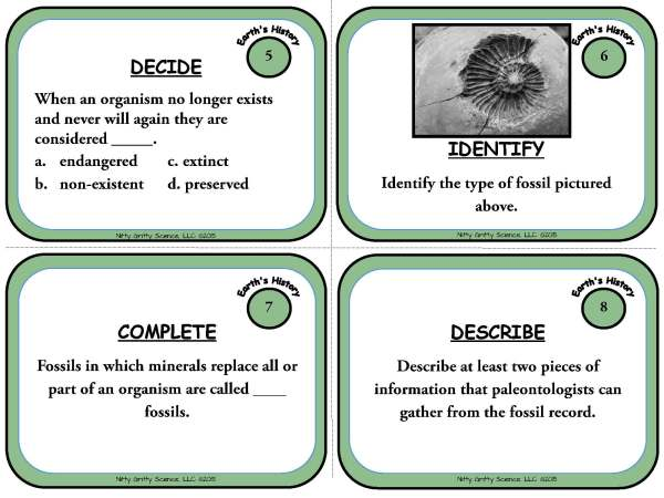 Trip Through Earths History Page 04 - A Trip Through Earth's History: Earth Science Task Cards