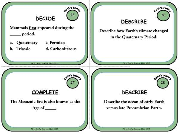 Trip Through Earths History Page 09 - A Trip Through Earth's History: Earth Science Task Cards