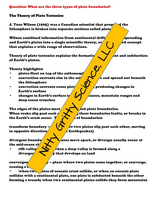 demoEarthScienceNotesChapterTestPlateTectonicsEDITABLE1525350 Page 4 - Plate Tectonics: Earth Science Notes, PowerPoint & Chapter Test ~ EDITABLE!