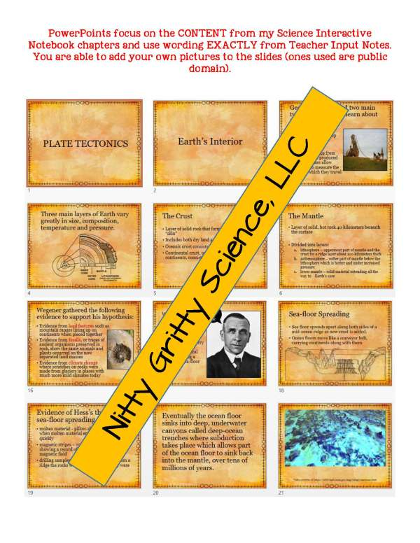 demoEarthScienceNotesChapterTestPlateTectonicsEDITABLE1525350 Page 5 - Plate Tectonics: Earth Science Notes, PowerPoint & Chapter Test ~ EDITABLE!