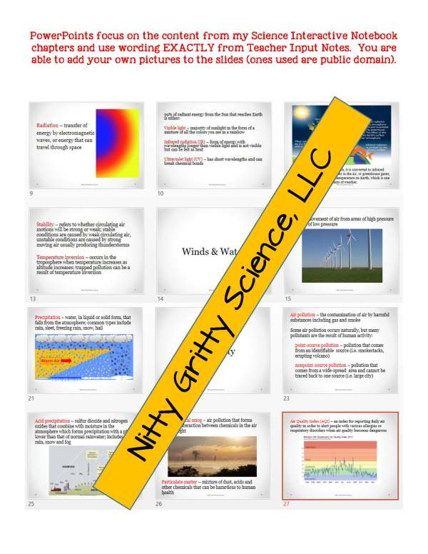demoEarthSciencePowerPointNotesTestEarthsAtmosphereEDITABLE2290257 Page 5 - Earth's Atmosphere: Earth Science PowerPoint, Notes & Test ~ EDITABLE!