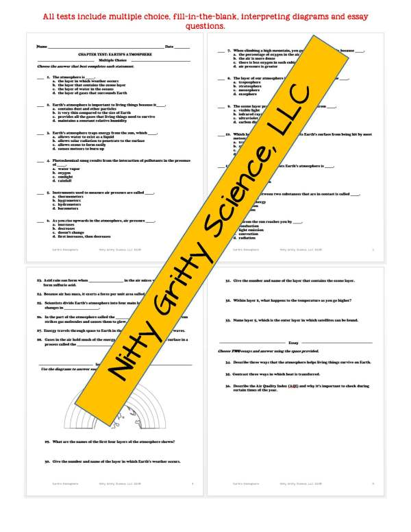demoEarthSciencePowerPointNotesTestEarthsAtmosphereEDITABLE2290257 Page 6 - Earth's Atmosphere: Earth Science PowerPoint, Notes & Test ~ EDITABLE!