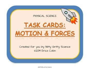 original 1146529 1 - Motion and Forces: Physical Science Task Cards
