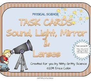 original 1166513 1 - Sound, Light, Mirrors and Lenses: Physical Science Task Cards