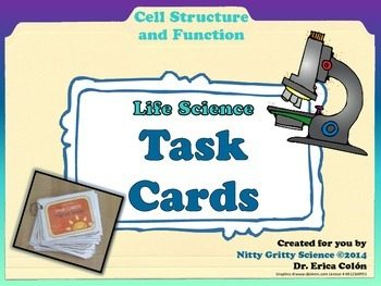 original 1452032 1 - Cells: Structure and Function - Life Science Task Cards