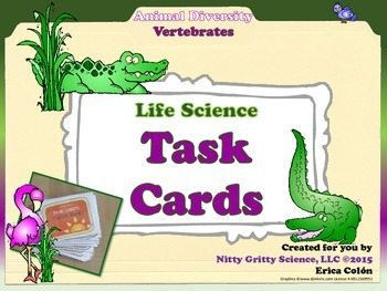 original 1703336 1 - Animal Diversity: Vertebrates - Life Science Task Cards