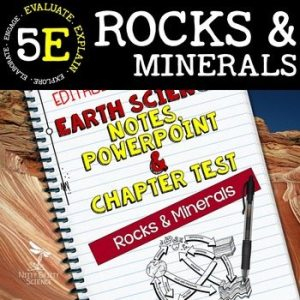 original 2165218 1 - Rocks & Minerals: Earth Science Notes, PowerPoint & Chapter Test ~ EDITABLE!