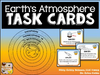 original 2232121 1 - Earth's Atmosphere: Earth Science Task Cards