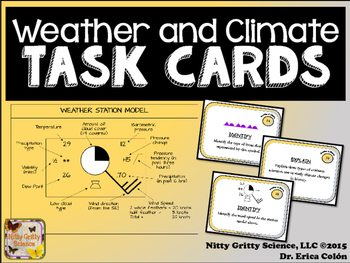 original 2233623 1 - Weather & Climate: Earth Science Task Cards