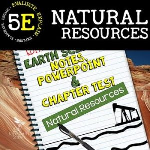original 2273845 1 - Natural Resources: Earth Science PowerPoint, Notes & Test ~ EDITABLE!