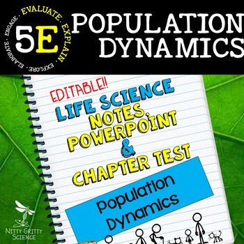 original 2347968 1 - Population Dynamics: Life Science Notes, PowerPoint and Test ~ EDITABLE!