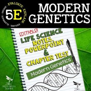 original 2354801 1 - Modern Genetics: Life Science Notes, PowerPoint and Test ~ EDITABLE