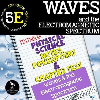 original 2411453 1 - Waves & Electromagnetic Spectrum: Notes, PowerPoint & Test ~EDITABLE