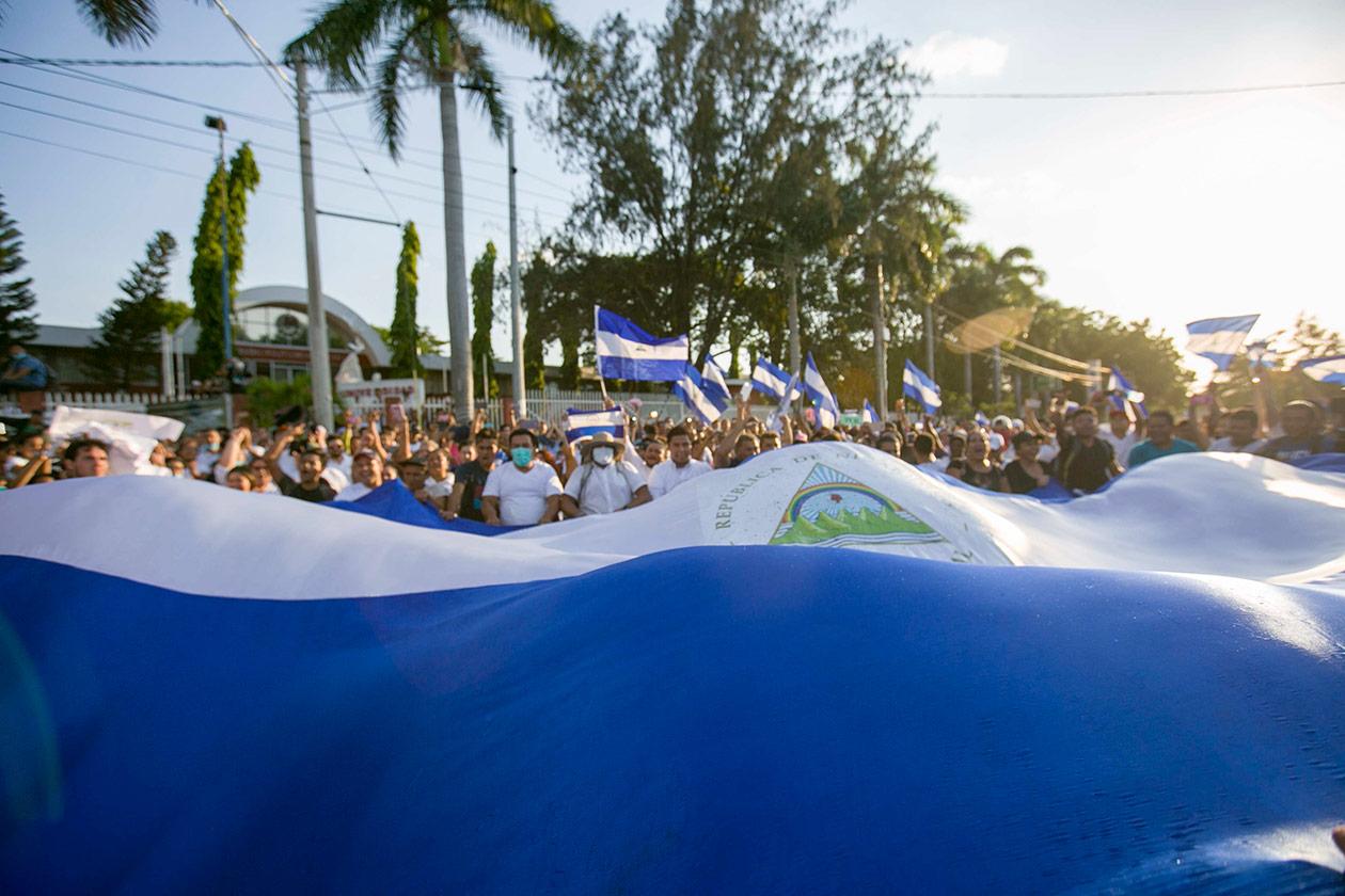 Siete días de protestas en Nicaragua en fotos