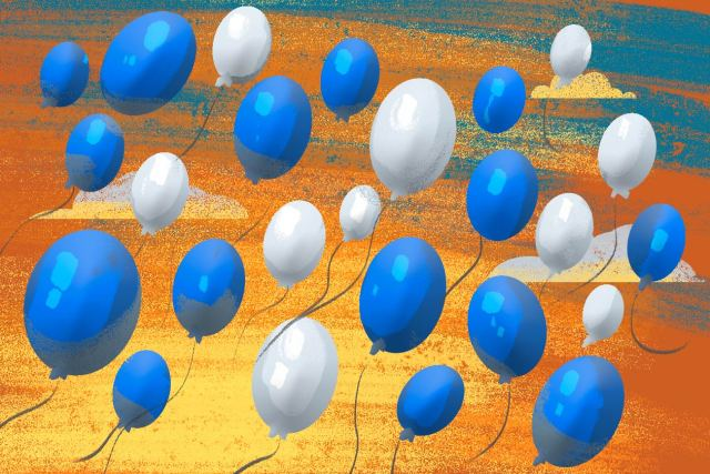 Más de diez personas han sido detenidas por la Policía Nacional por protestar usando chimbombas azul y blanco. Ilustración   Juan García