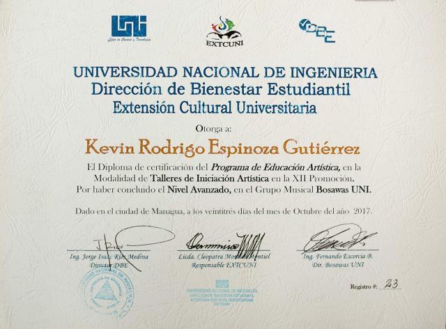 Rodrigo Espinoza, cursaba tercer año de ingeniería agrícola en la UNI y también estudiaba música en el Conservatorio de la Upoli. Carlos Herrera | Niú