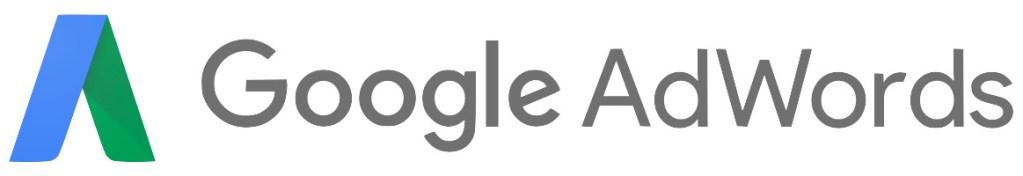 Logotipo de Google AdWords con Letras Grises