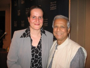 2008 with Nobel Prize winner Muhammad Yunus