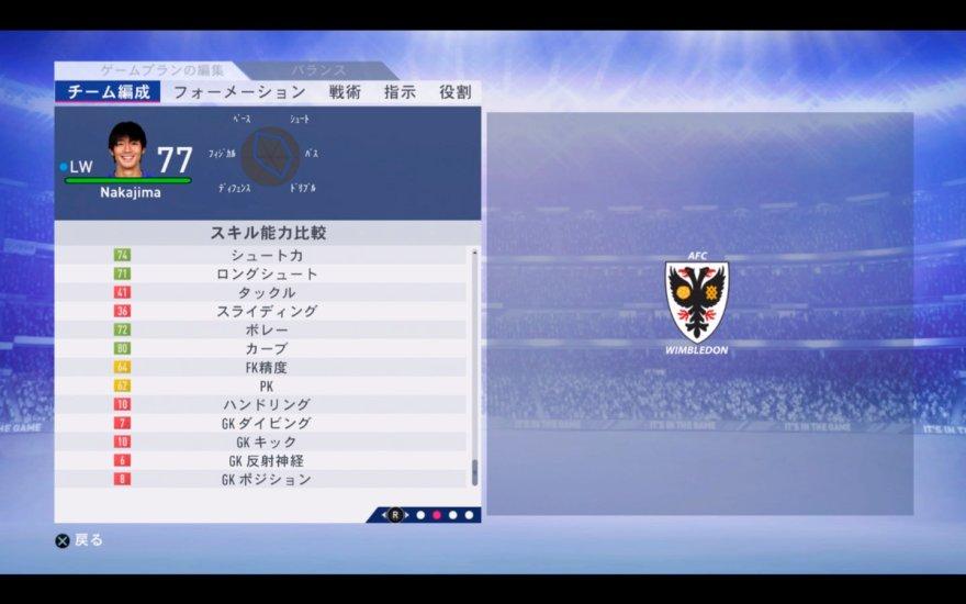 FIFA19 中島 翔哉 能力
