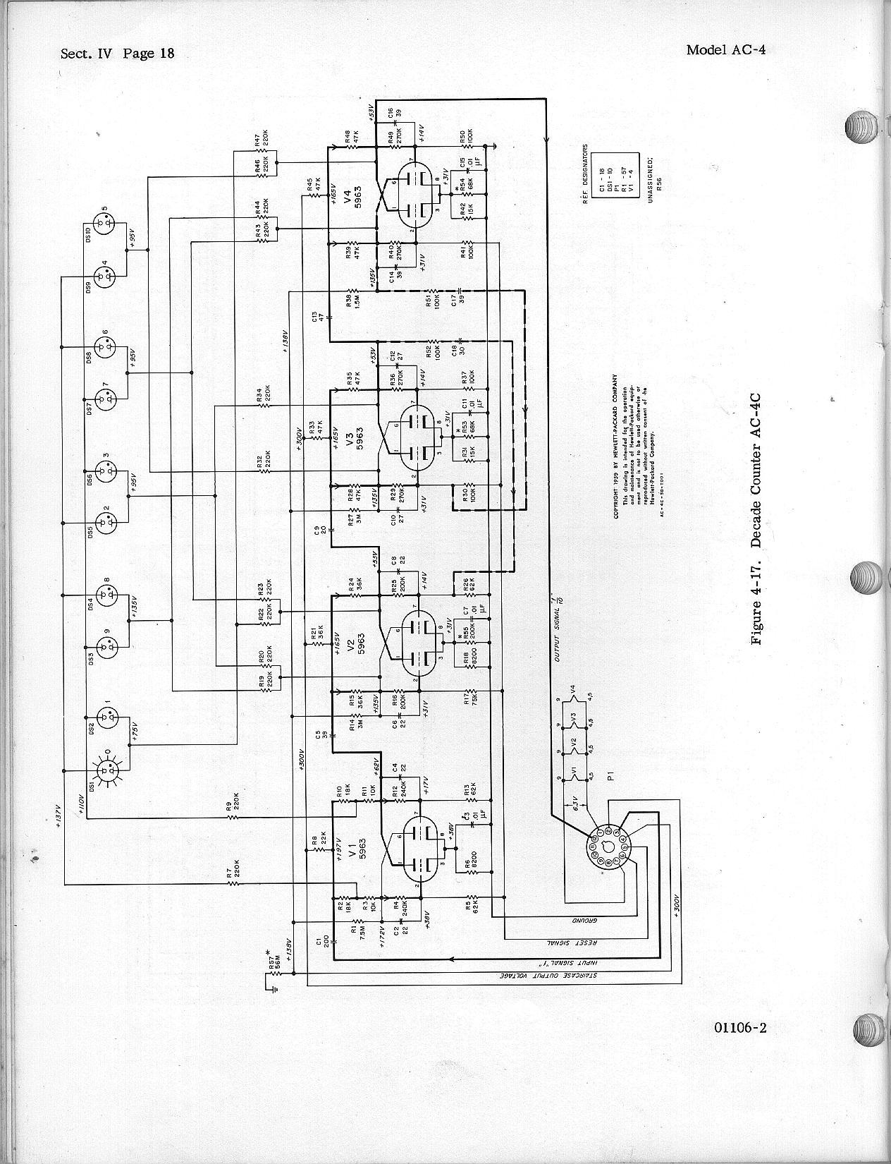 Hewlett Packard Decade Counters Ac 4