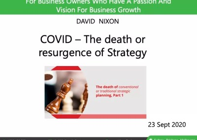 COVID – The death or resurgence of Strategy