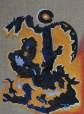 Acrylic on burlap. 16''x 22'' Year: 2008
